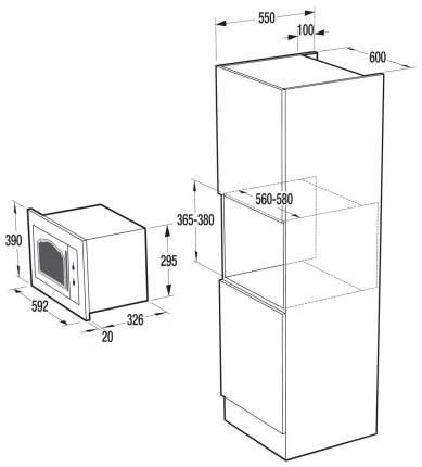 Встраиваемая микроволновая печь с грилем Gorenje Classico BM235CLI 567143