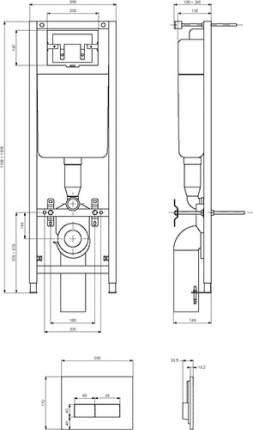 Система инсталляции для подвесных унитазов IDEAL STANDARD 4 в 1, W3710AA