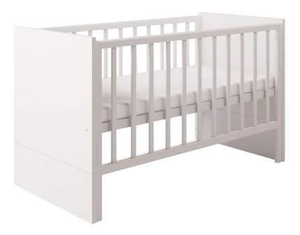 Кровать-трансформер Polini Classic 140 х 70 см, белый снег
