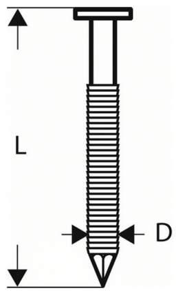 Гвозди для электростеплера Bosch 1,6/16g 57mm 2000шт 2608200532