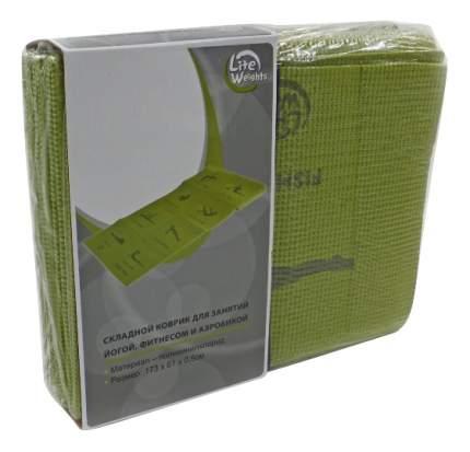 Коврик для йоги Lite Weights 5455LW зеленый 5 мм