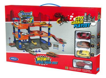 Гараж игрушечный Welly Гараж с аксессуарами