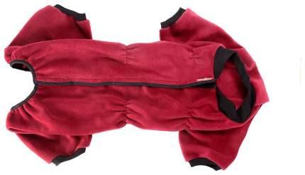 Комбинезон для собак OSSO Fashion размер M женский, красный, длина спины 28 см