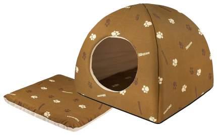 Домик для кошек и собак Дарэлл Юрта, коричневый, 48x48x47см