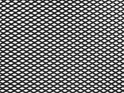 Сетка в бампер автомобиля Dollex 120х20см,чёрный,Алюминий,ячейки 6х3,5мм,DKS-123