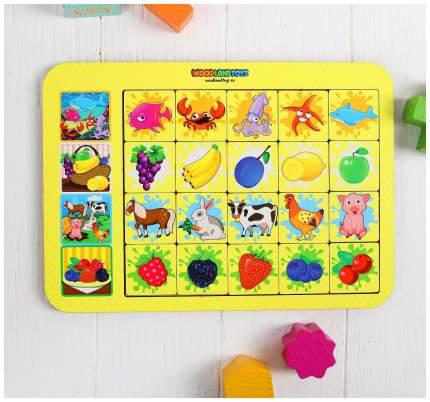 """Игра настольная """"Ассоциации: ягоды, животные, фрукты"""" Woodland (Сибирский сувенир)"""