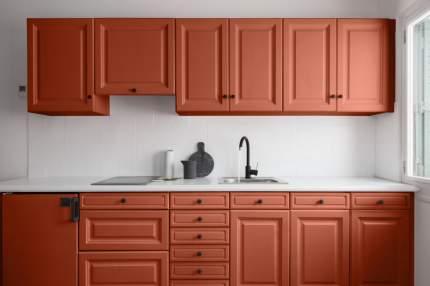 Краска V33 для стен и мебели на кухне RENOVATION Цвет коралл