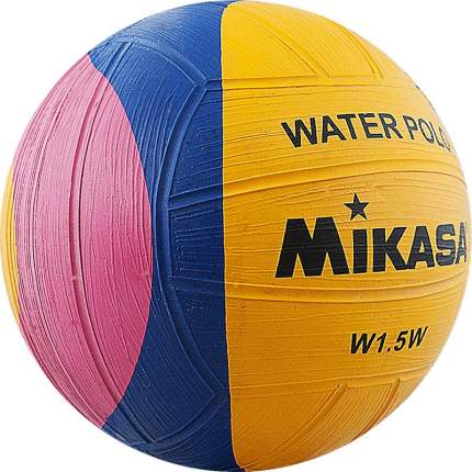 Мяч для водного поло Mikasa W1.5W сувенирный 1, желтый/розовый/синий