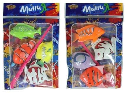 Игра пласт. рыбалка магнитная, 4 рыбки, МиниМаниЯ, 2 вида, РАС 23х15см, арт. М6171.