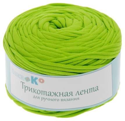 Пряжа трикотажная широкая 50м/160гр, ширина нити 7-9 мм (030 яр.зеленый) Елена и Ко