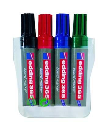 Набор маркеров для белых досок, клиновидный наконечник, 2-7 мм, 4 цвета в наборе
