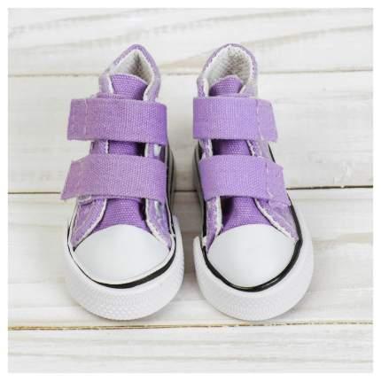 Кеды для кукол на липучках, длина подошвы 7 см, цвет фиолетовый Sima-Land