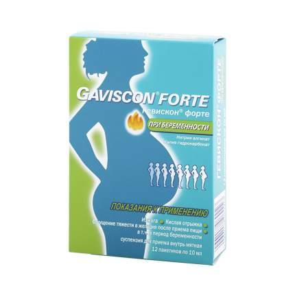 Гевискон форте суспензия 10 мл мятный вкус 12 шт.