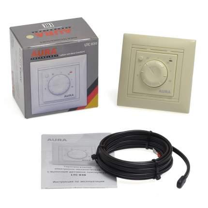 Терморегулятор для теплых полов Aura Technology LTC 030 кремовый