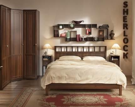 Кровать двуспальная Глазов мебель Шерлок 42 160х200 см, коричневый