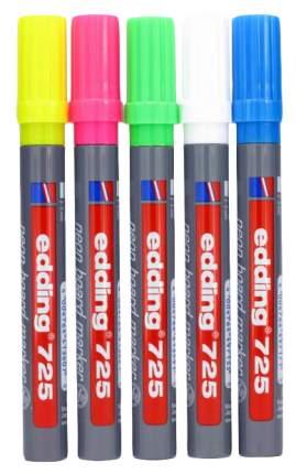 Набор неоновых маркеров для досок, клиновидный наконечник, 2-5 мм, 5 цветов в набор