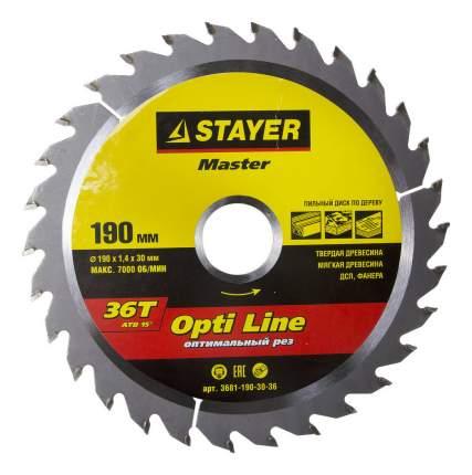 Пильный диск по дереву  Stayer 3681-190-30-36