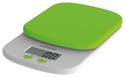 Весы кухонные StarWind SSK2155 Белый, зеленый