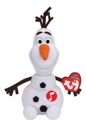 Мягкая игрушка TY Disney Beanie Babies Cнеговик Olaf 25 см звуковые эффекты
