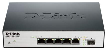 Коммутатор D-Link DGS-1100-06/ME/A1A/А1В Черный