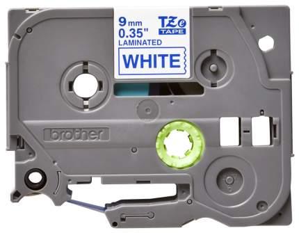 Лента для печати наклеек Brother TZe-223 Blue on white 9 мм
