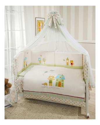 Комплект в кроватку Perina Глория 7 предметов Happy Days бежевый
