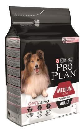 Сухой корм для собак PRO PLAN OptiDerma Medium Adult, для средних пород, лосось, рис, 3кг