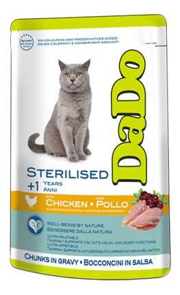 Влажный корм для кошек Dado Sterilised, для стерилизованных, с курицей, 85г