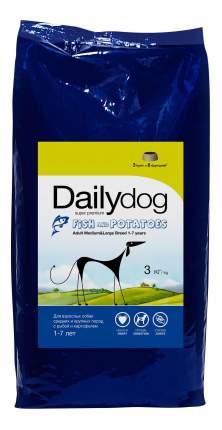 Сухой корм для собак Dailydog Adult Medium-Large Breed, рыба и картофель, 3кг