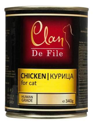 Консервы для кошек Clan De File, курица, 12шт, 340г