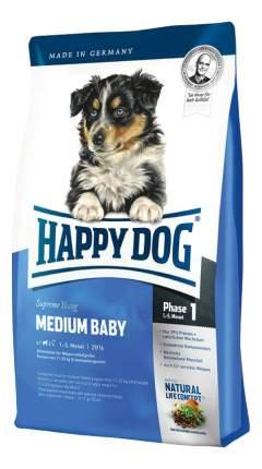 Сухой корм для щенков Happy Dog Supreme Young Medium Baby, для средних пород, птица, 1кг