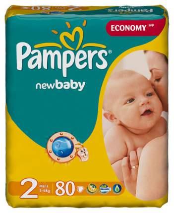 Подгузники для новорожденных Pampers New Baby 2 (3-6 кг), 80 шт.