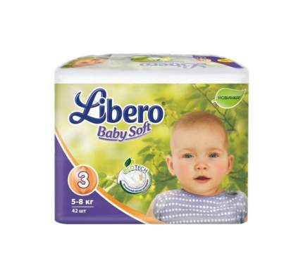Подгузники Libero EcoTech Baby Soft Midi 3 (5-8 кг), 42 шт.