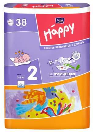 Подгузники для новорожденных Bella Happy Mini 2 (3-6 кг), 38 шт.