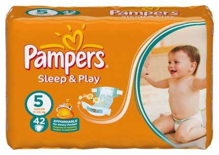 Подгузники Pampers Sleep & Play Junior 5 (11-25 кг), 44 шт.