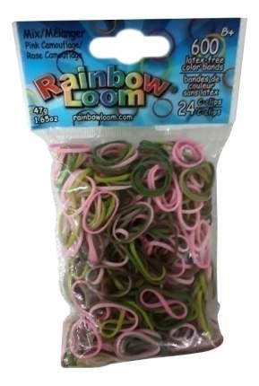Плетение из резинок Rainbow Loom Розовый камуфляж