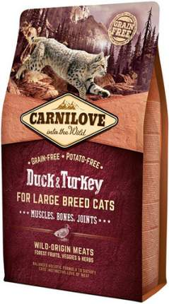 Сухой корм для кошек Carnilove Large Breed, для крупных пород, утка, индейка, 2кг