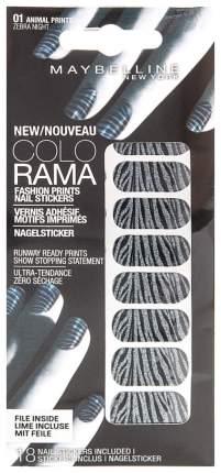 Наклейки для ногтей Maybelline New York Colorama Полосатая ночь