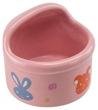 Одинарная миска для грызунов Ferplast, керамика, розовый, 0.08 л