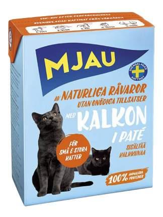Влажный корм для кошек Mjau Pate, мясной паштет с индейкой, 380г