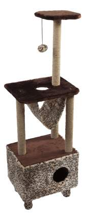 Комплекс для кошек Велес 3-уровневый квадратный с гамаком 140см 45см