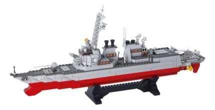 Конструктор пластиковый Sluban Военно морской флот - Авианосец-крейсер 615 деталей