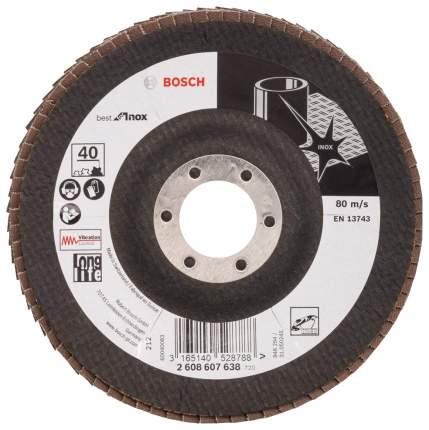Круг лепестковый Bosch 125мм K40 Inox 2608607638