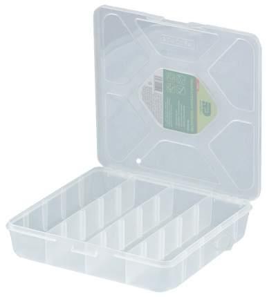 Рыболовная коробка Сибртех Средняя прозрачная матовая 90727, 4 отделения