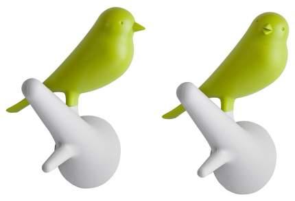 Вешалка настенная Qualy Sparrow QL10067-WH-GN Белый, зеленый
