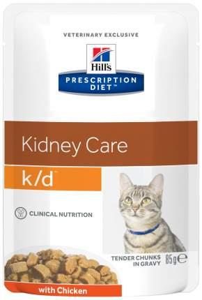 Влажный корм для кошек Hill's Prescription Diet k/d Kidney Care, курица, 12шт, 85г