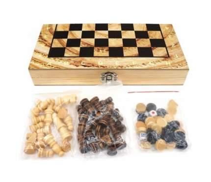 Настольная игра Shantou Gepai 3 в 1 шахматы шашки нарды W3018-H