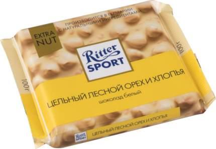 Шоколад белый Ritter Sport extra nut цельный лесной орех и хлопья 100 г