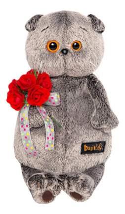 Мягкая игрушка BUDI BASA Басик с букетом красных роз 19 см ks19-080