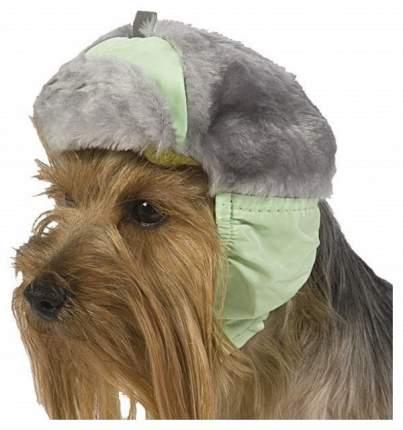 Шапка для собак ТУЗИК №2 китайская хохлатая, ши-тцу, теплая с мехом, плащевка, мех, флис